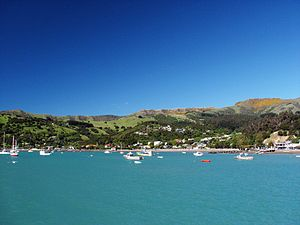 Akaroa township, Canterbury, New Zealand - tak...