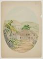 Akvarell-Gatuparti i staden Gustavia - Sjöhistoriska museet - SB 1581.tif