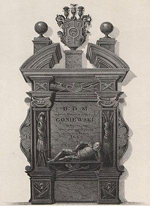 Wincenty Korwin Gosiewski - Gosiewski's burial monument