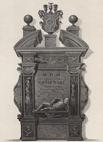 Aleksander Korwin Gosiewski - Tomb of Aleksander's son Wincenty Korwin Gosiewski