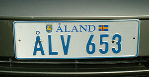 Åland Islands - An Åland license plate.