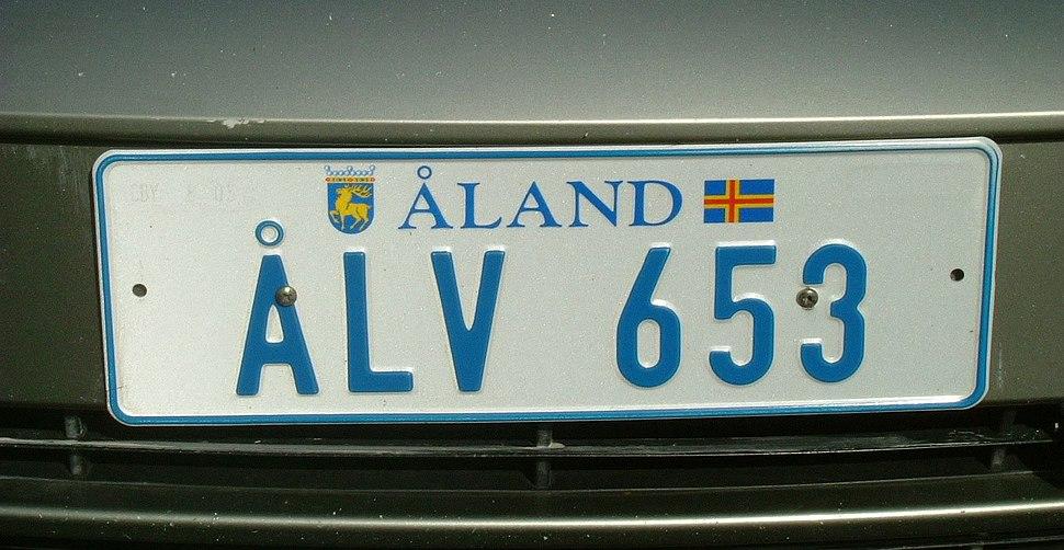 Aland Islands License Plate