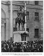 Enthüllung des König-Albert-Denkmals von Max Baumbach in Dresden (Quelle: Wikimedia)