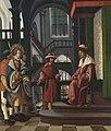 Albrecht Altdorfer - Florianslegende, Die Vorführung des hl. Florian vor dem Statthalter - 5389 - Bavarian State Painting Collections.jpg