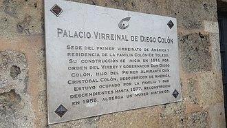 Alcázar de Colón - Image: Alcazar de Colon sign