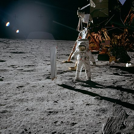 Apollo 11 was the spaceflight that landed the first two people on the Moon Commander Neil Armstrong and lunar module pilot Buzz Aldrin both American landed the