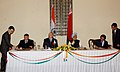 Aleksandr Lukashenko and the Prime Minister Dr. Manmohan Singh witnessing the signing of agreements between India and Belarus on executive programme of cooperation in the field of science and technology for the period.jpg