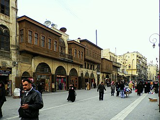 Al-Madina Souq - The main road where al-Madina Souq is located on both sides