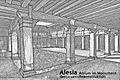 Alesia, Atrium im Monument des Ucuetis, Rekonstruktion.JPG