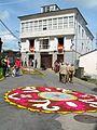 Alfombra floral en la fiesta del Corpus Christi en Castropol.JPG