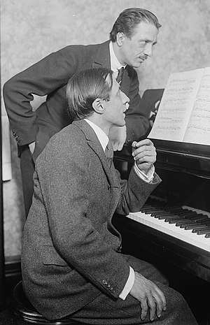 French pianist Alfred Cortot (1877-1962), seat...