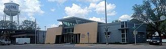 Algona, Iowa - Municipal utilities building in Algona