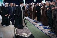 Ali Khamenei Praying for Ayatollah Hashemi Shahroudi08.jpg