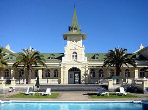 Swakopmund Railway Station - Former station building of Swakopmund, now serving as a hotel.