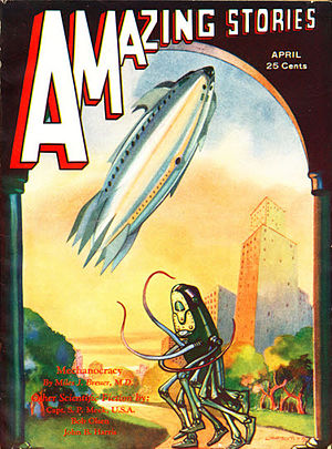 "John Wyndham - Wyndham's second story, ""The Lost Machine"", was cover-featured on the April 1932 issue of Amazing Stories, also under his Harris byline"