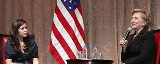 America Ferrera - Ferrera with Hillary Clinton in 2008