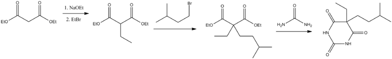 Amobarbital synthesis.png