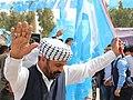 An Iraqi Turkmen man dancing with flag.jpg