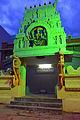 An illuminated temple on Narayana Shastry Road, Chamrajpura, Mysore.jpg