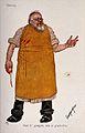 An insensitive surgeon. Colour process print by C. Josef, c. Wellcome V0011950.jpg