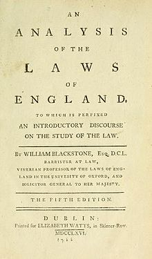 An Analysis of the Laws of England - Wikipedia