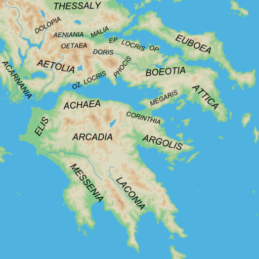 Ancient Greek southern regions