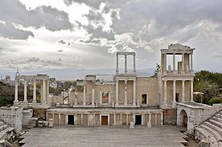 Roman theatre in Plovdiv, Bulgaria