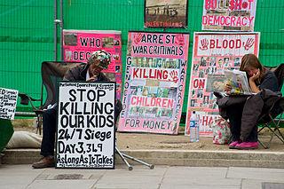 anti-war protest in London, UK