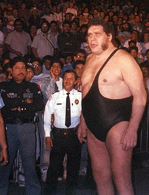 André the Giant - André making his way to the ring in the late 1980s