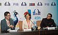 """Andrea Dorfman, Director of the film """"HEARTBEAT"""", at a press conference, at the 45th International Film Festival of India (IFFI-2014), in Panaji, Goa on November 28, 2014.jpg"""