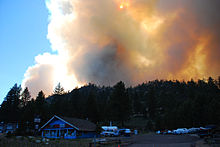 Angora Forest Fire, South Lake Tahoe -2, June 24 2007.jpg