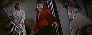 Rebel Without a Cause - Jim confronts his father while his mother watches.