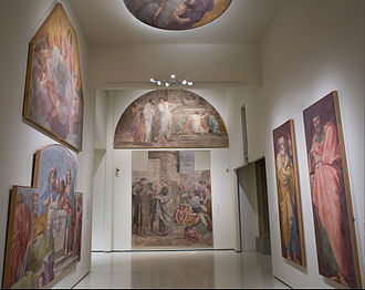 Mural Paintings from the Herrera Chapel - Image: Annibale Carracci Mural paintings from the Herrera Chapel Google Art Project