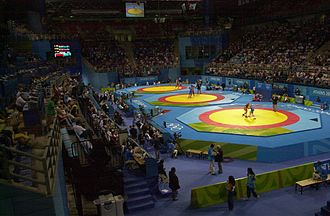 Ano Liosia Olympic Hall - Wrestling during the 2004 Olympics.