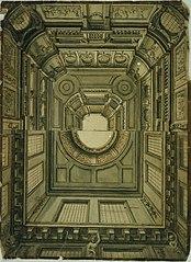 Double ébauche pour un plafond monumental style Louis XIV