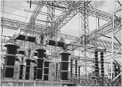 Ansel Adams fotografía de cables eléctricos de las Unidades de Boulder Dam