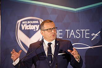 Anthony Di Pietro - Anthony Di Pietro addresses the audience at a Melbourne Victory Function