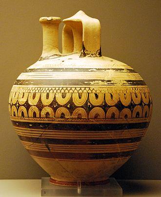 Sub-Mycenaean pottery - Late Mycenaean or Sub-Mycenaean small stirrup jar