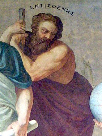 Antisthenes - Antisthenes, part of a fresco in the National University of Athens.