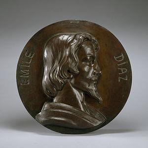 Narcisse Virgilio Díaz - Medallion of Díaz's son, Eugène-Émile