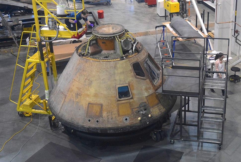 Apollo 11 Command Module in Hangar