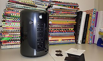 Mac Pro - The back of a 2013 Mac Pro