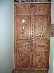 Aranda de Duero, Hand Carved Wooden Door, pic bb475 Photography by David Adam Kess.jpg