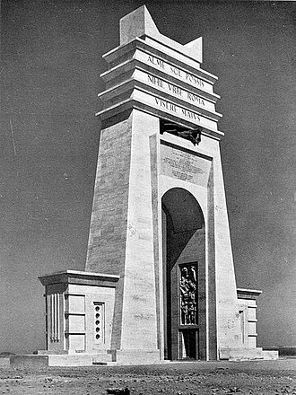 Libyan Coastal Highway - The Arch of the Philaeni, March 1937