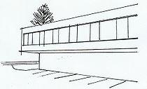Architekturskizze Verwaltungsgebäude Biel