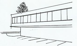 Technical drawing - Sketch for a government building