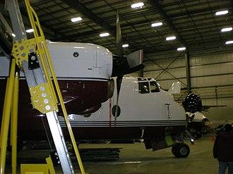 Arctic Sunwest Charters - FASV an Arctic Sunwest de Havilland Canada DHC-5 Buffalo undergoing regular maintenance