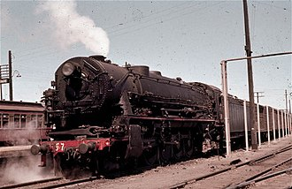 Clyde Engineering - New South Wales D57 class locomotive in Junee in September 1961