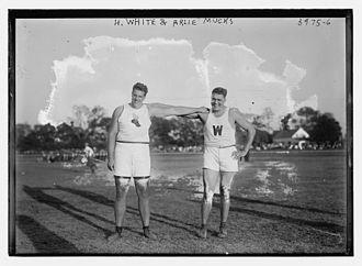 Arlie Mucks - Mucks and H. White in 1916
