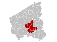 Arrondissement Roeselare Belgium Map